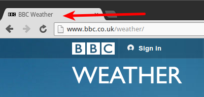 BBC Weather Title