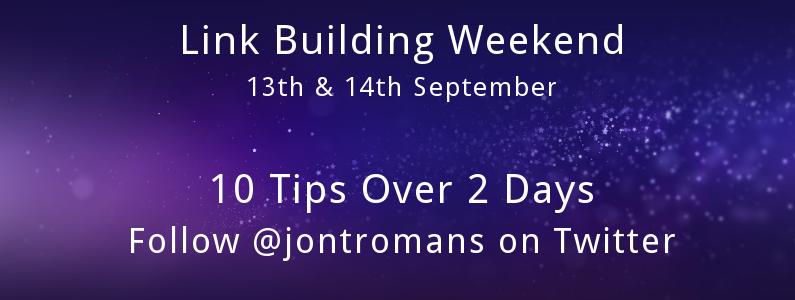 RECAP: Link Building Tips Weekend