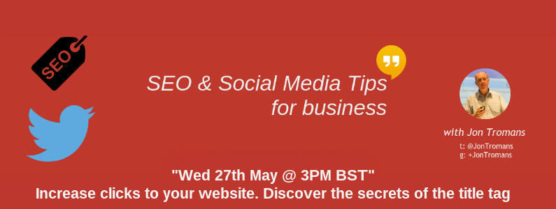 WEBINAR: Increase clicks to your website. Discover the secrets of the title tag