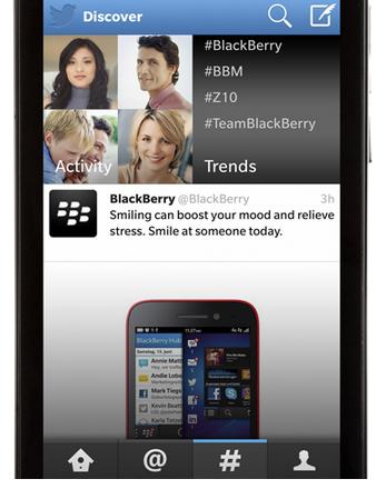 Blackberry Twitter App