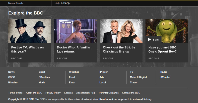 BBC Footer